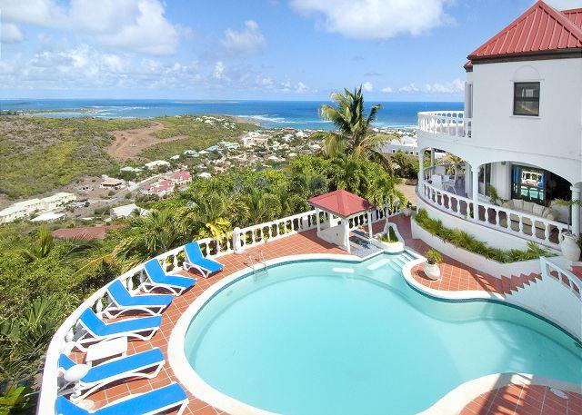 Wonderful 5 Bedroom Villa with Spectacular Views overlooking Oyster Pond - Image 1 - Saint Martin-Sint Maarten - rentals