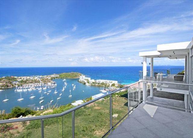 Fabulous views - La Mirella: New 3 bedr villa with Marina and Ocean view | Island Properties - Saint Martin-Sint Maarten - rentals