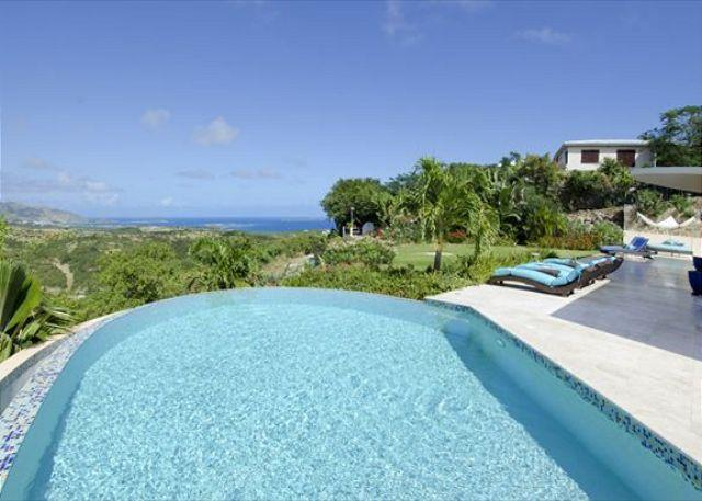 Lovely eternity pool - On Island Time: Wonderful stylish villa @ Oyster Pond | Island Properties - Saint Martin-Sint Maarten - rentals