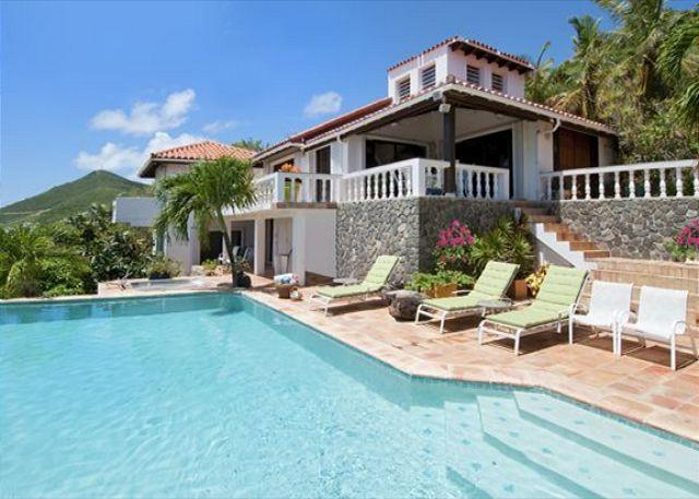 Large private pool - Nestled in lush hillside overlooking Dawn Beach | Island Properties - Saint Martin-Sint Maarten - rentals