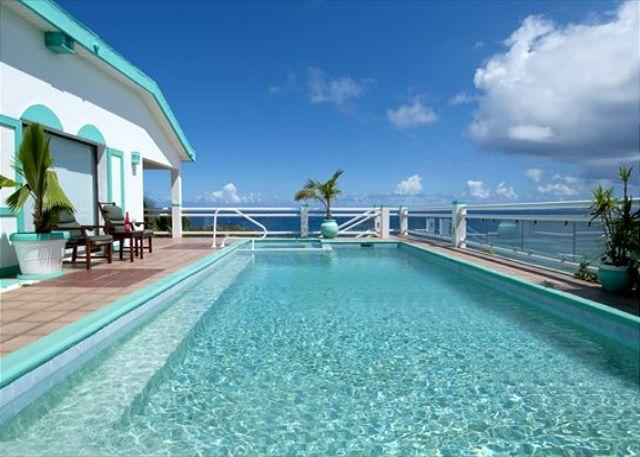 Paradiso is a 5 bedroom 5 1/2 bathroom villa located high up on the hillside - Image 1 - Saint Martin-Sint Maarten - rentals
