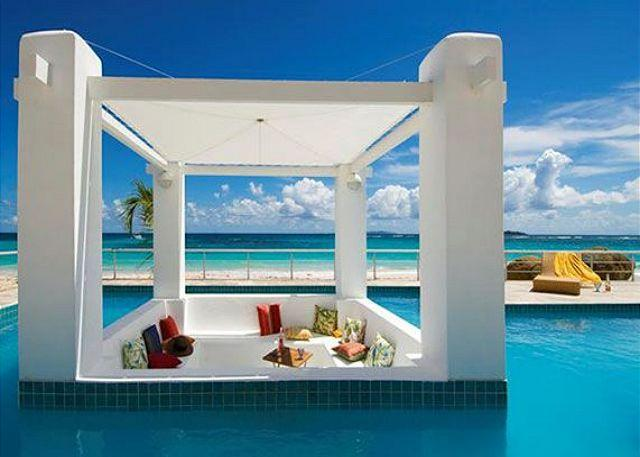 Sunken covered Gazebo - Beachfront Villa * Coral Beach Club offering 3 Bedrooms | Island Properties - Saint Martin-Sint Maarten - rentals