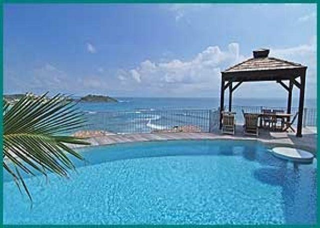 Private pool and Gazebo - 3 bedroom with views of St Barth from Oyster Pond | Island Properties - Saint Martin-Sint Maarten - rentals