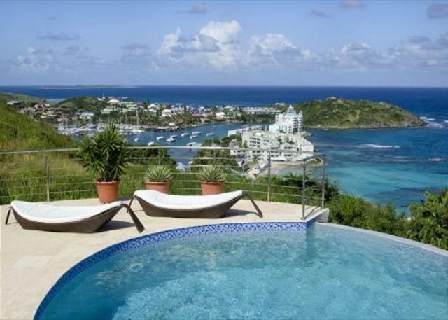 Pool overlooking fabulous views - Summerwinds: Spectacular 3 bedr villa with stunning views | Island Properties - Saint Martin-Sint Maarten - rentals