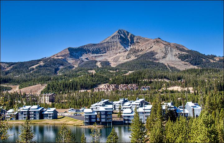 This is the Amazing View of the Big Sky ski area and Lone Peak. - Walk or Ride to the Ski Slopes - High Quality Finishes & Furniture Throughout (1059) - Big Sky - rentals