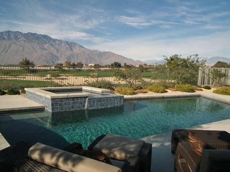 Pool  Patio Facing Golf Course  Mountains - Escena Golf Course Home (St. Fin Corp) - Palm Springs - rentals