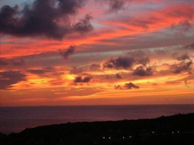 Sunset view from the terrace - Beautiful 3 BR Villa Curacao - Stunning Sea View - Willibrordus - rentals