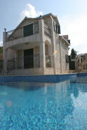 Stone villa with a pool, Supetar, Brac - Image 1 - Supetar - rentals
