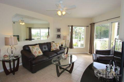 Living Room area with Sofa Sleeper and Gulf View - 202-S - Sunset Vistas - Treasure Island - rentals