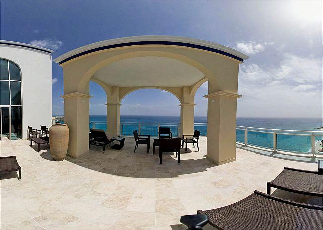 Penthouse terrace with panoramic views of Caribbean - The Cliff at Cupecoy Beach PE - Heaven on Earth - Saint Martin-Sint Maarten - rentals