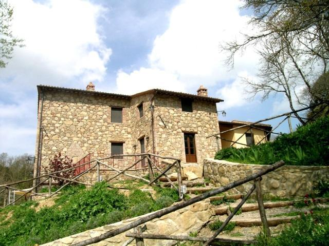 This is the villa Il Casale as seen from the pool - I Casali di Colle S. Paolo-Villa, pool,3 bedrooms. - Tavernelle - rentals