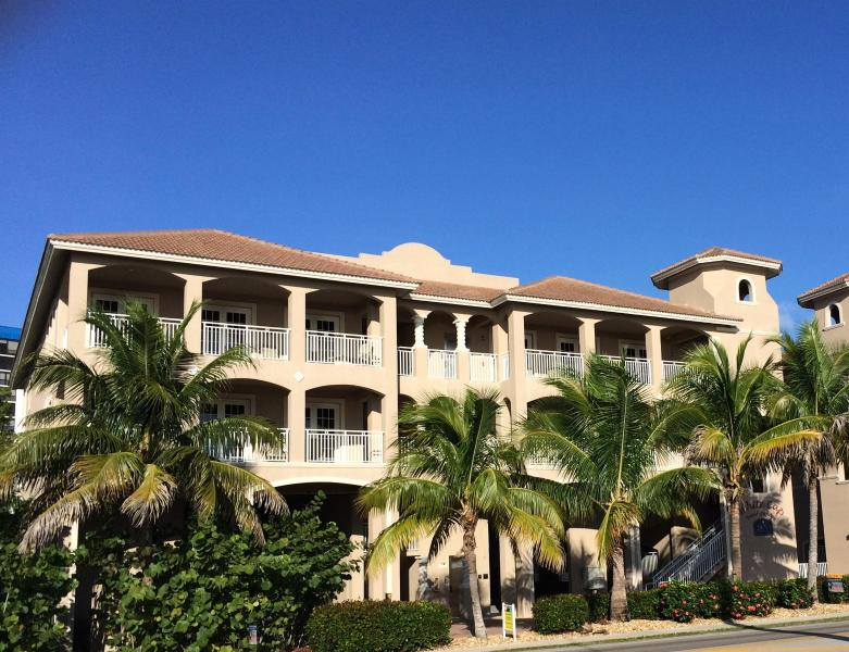 Our home is the top 3 arched openings on the right - WHITE CAP-MALI Luxury Gulf Condo - Fort Myers Beach - rentals