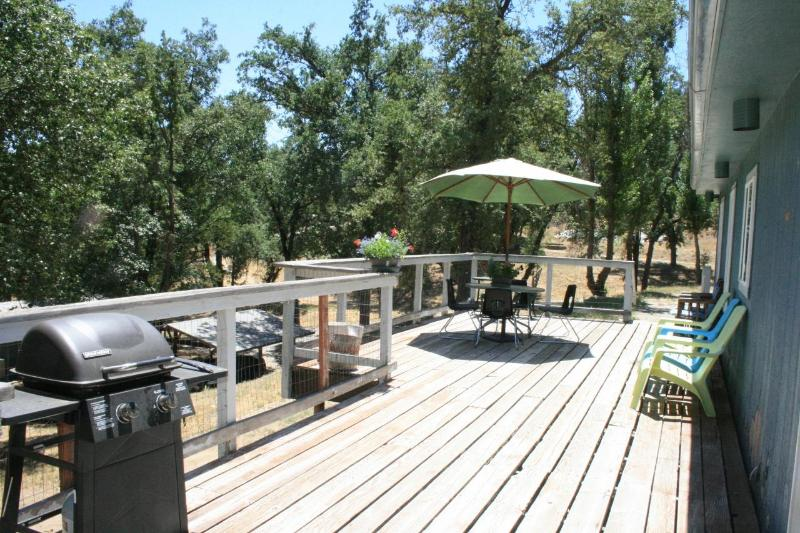 Large deck for dining and barbeque - DEER PARK HOME at Sequoia Resort - house 3 - Badger - rentals