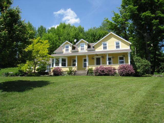 House in late May - Spacious, Updated Farmhouse with Great Views - Roscoe - rentals