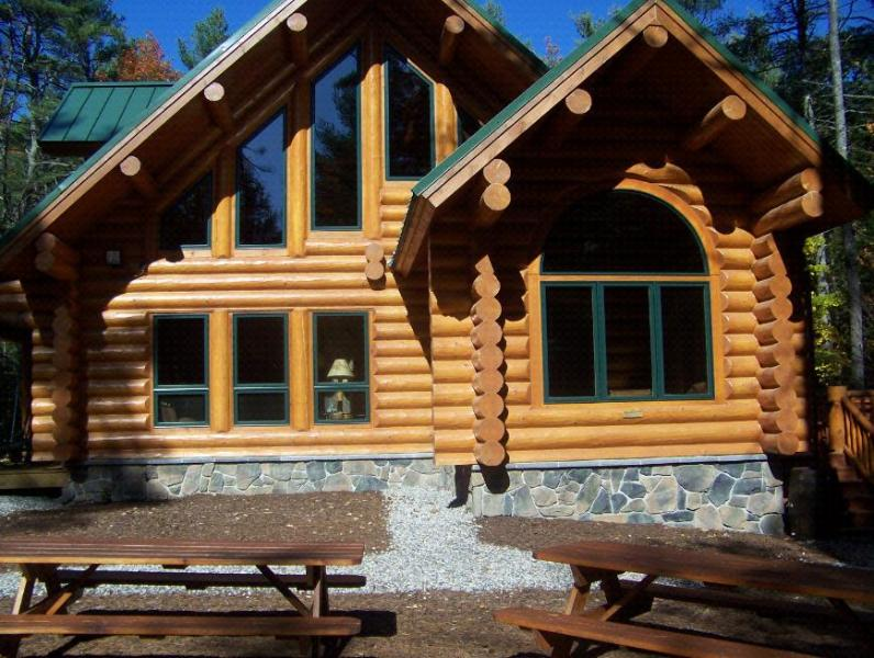 Big Bear Cabin with fire pit and picnic benches - Luxury Log Home-Raymond,Naples,Windham,Bridgton - Harrison - rentals