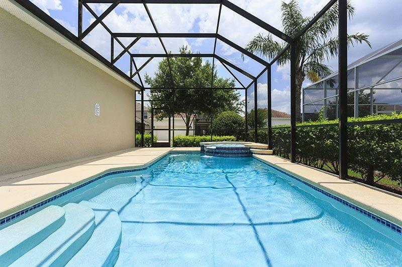 Large 24ft x 12ft screened pool  - Reunion Villa- 5 Bed Reunion Home with Large Screened Pool and Spa - Reunion - rentals