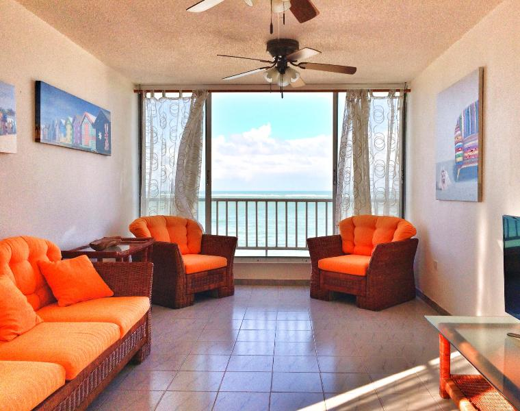 Living Area with Ocean Front View - 'Sea Coral' Ocean Front Exclusive View! - Carolina - rentals