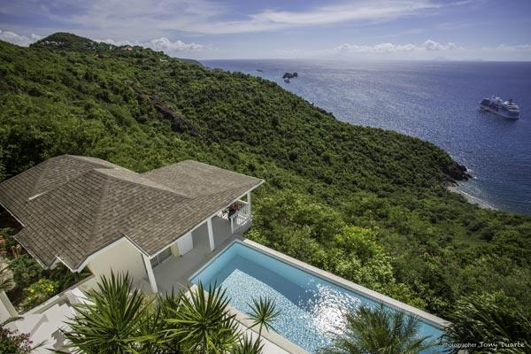 Very peaceful and private villa with pool and dramatic ocean views WV VID - Image 1 - Colombier - rentals