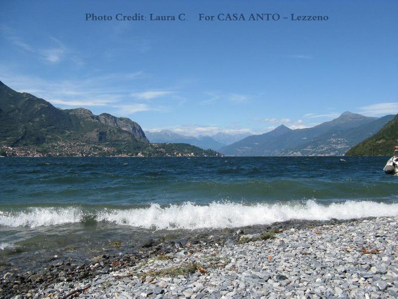 the beautiful beach, few meters from Casa Anto - Apartment near beach,10 min from Bellagio,FreeWIFI - Lezzeno - rentals