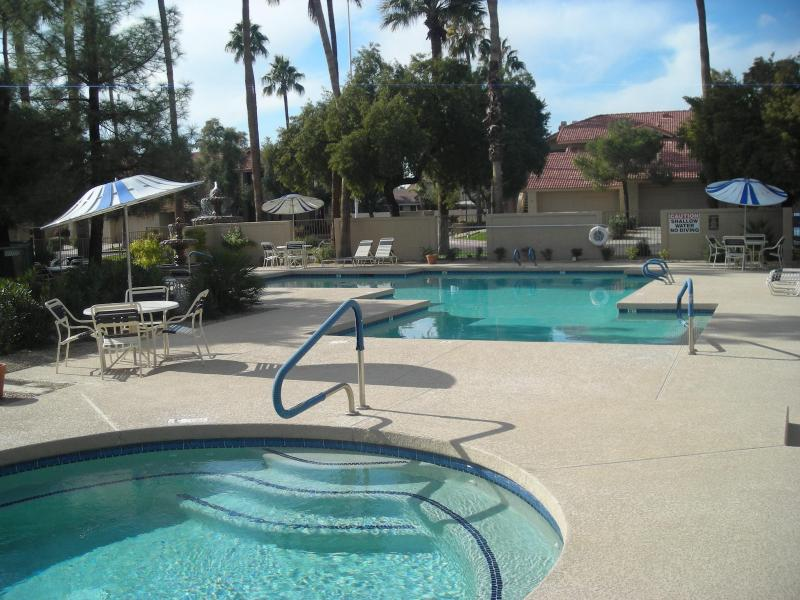 pool and jacuzzi - Two bed condo, scottsdale, Nov, Dec, Jan, Feb, mar - Scottsdale - rentals