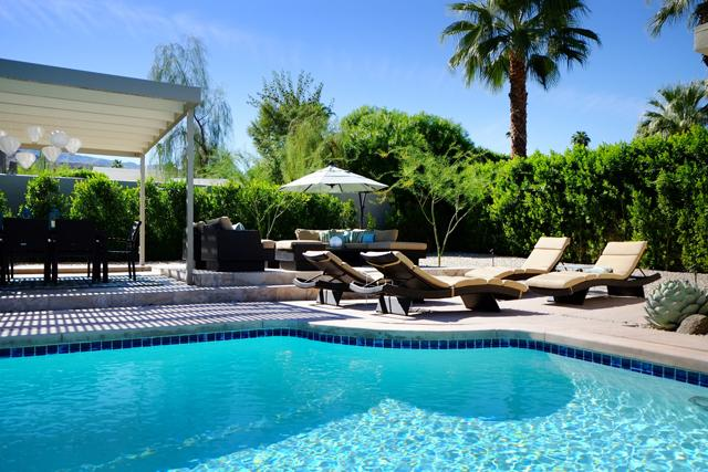 Resort Style Outdoor Furniture and Loungers - Space, Style and Comfort at The Biskra House. - Rancho Mirage - rentals