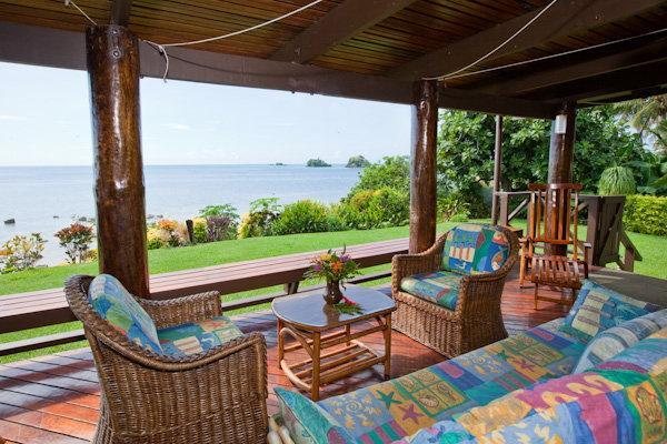 View from the patio - 3 Bedroom Beachfront Home in Taveuni, Fiji - Matei - rentals