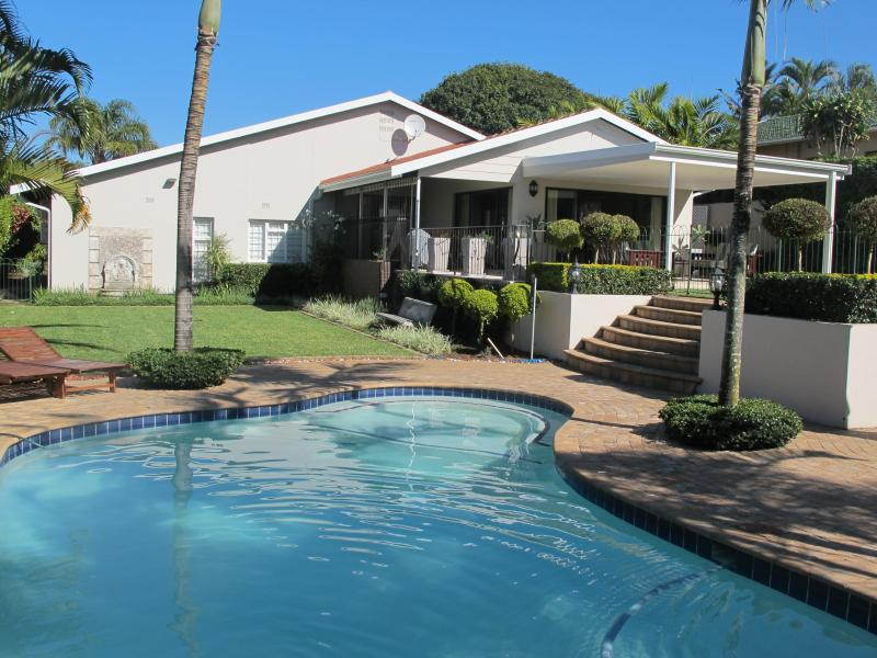 Swimming pool area looking towards the main house - Number 25 On Oyster - Umhlanga Rocks - rentals
