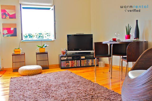 Living Room  - Wasabi Orange Apartment - Lisbon - rentals