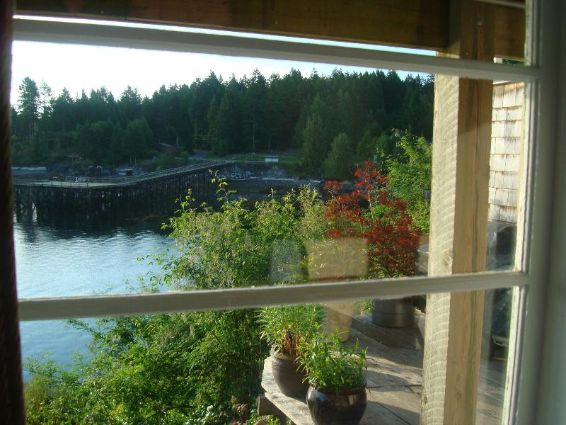 view from window of Quarterdeck - Rosebank Cottage - the Quarterdeck - Vananda - rentals