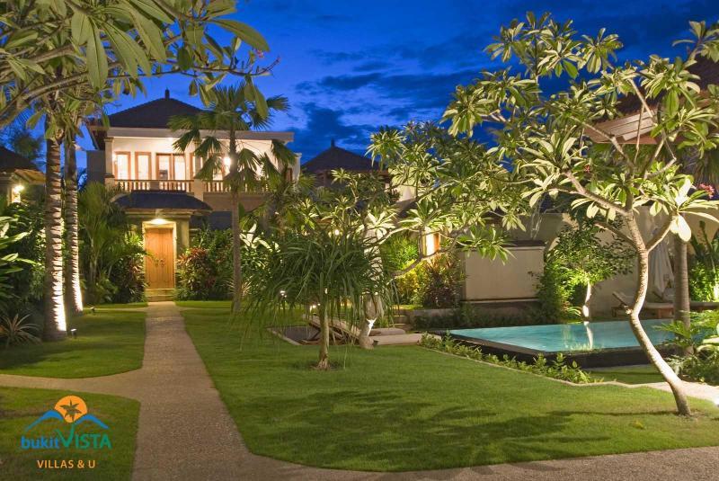 hotel garden and pool - Best Value. 2bed pool villa on Jimbaran Hills - Jimbaran - rentals