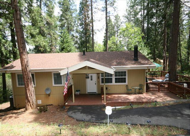 Secluded home in the pines- large deck, fireplace, a/c, w/d, TV/DVD - Image 1 - Groveland - rentals