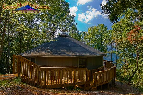 A unique circular mountain  chalet - The Round House - Bryson City - rentals