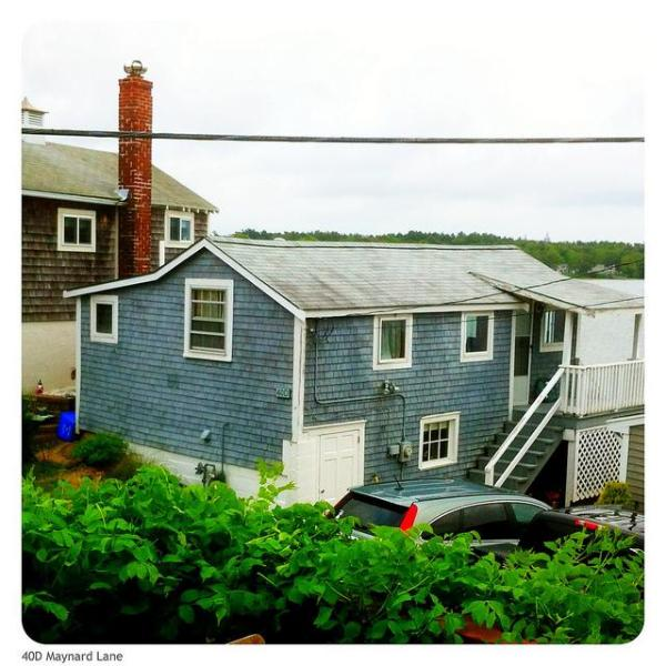 Cottage from side - Waterfront cottage, steps to beach - 1BR - Buzzards Bay - rentals