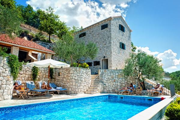 Stone villa with a pool for rent, Klek, Dubrovnik county - Stone villa with a pool for rent, Makarska area - Klek - rentals