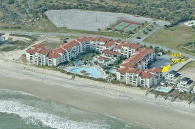 Aerial ofVilla Capriani showing location Unit 320B - Villa Capriani 320 B - North Topsail Beach - rentals