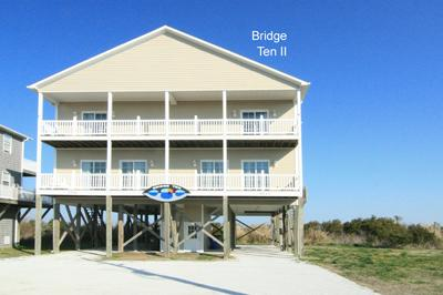 Streetside view of Bridge Ten II - 'Bridge Ten II - North Topsail Beach - rentals