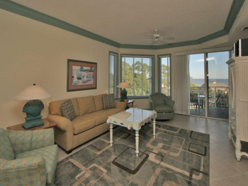 Living Room with Ocean Views at 2405 Sea Crest - 2405 Sea Crest - Hilton Head - rentals