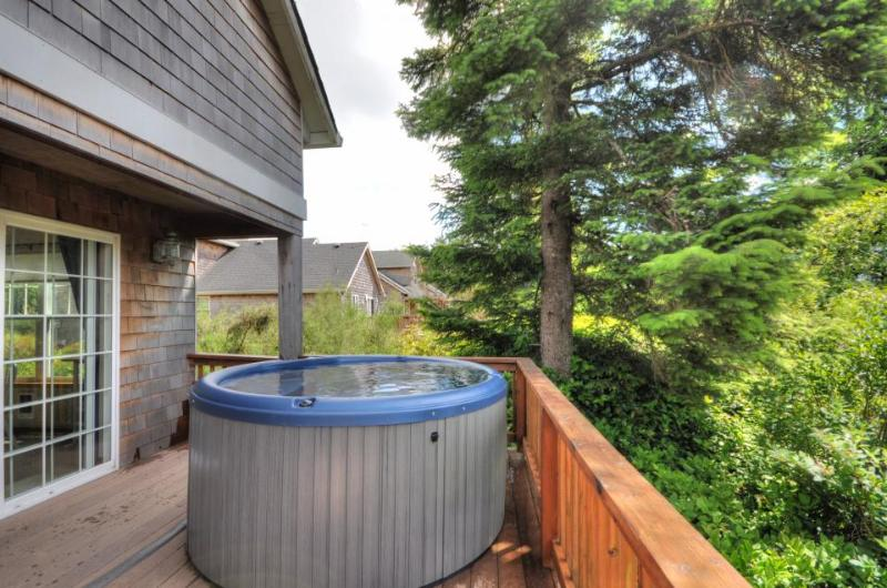 Dog-friendly beach house on nature preserve! Includes private hot tub, game room - Image 1 - Rockaway Beach - rentals