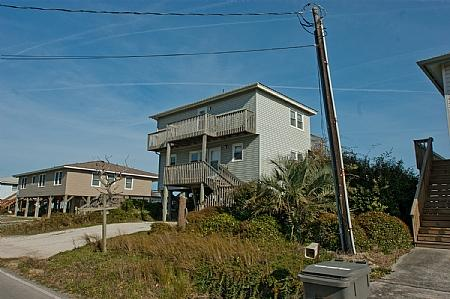 Street side view of Beach House - Beach House, 2712 S Shore Drive - Surf City - rentals