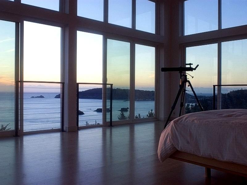 View from the Master Bedroom... - China Mountain House - Port Orford - rentals