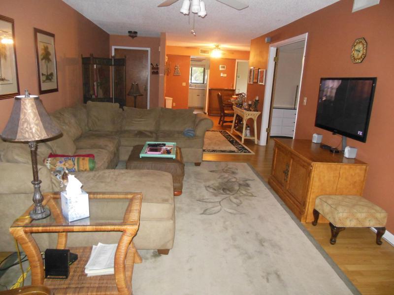 from the porch - Sea Woods Three Bedroom Condo - New Smyrna Beach - rentals