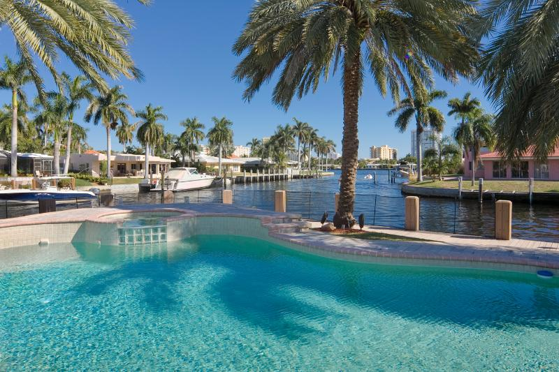 Millionares Waterfront Villa  Waterfront Pool - Image 1 - Pompano Beach - rentals