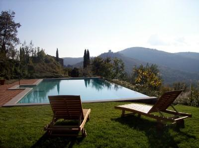 House  in Tuscany with private infinity pool - Image 1 - Civitella in Val di Chiana - rentals