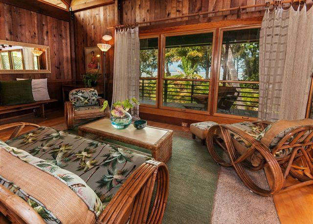 10% off May & June!! Anini Beachfront, Private Beachfront Cottage for Two - Image 1 - Kilauea - rentals