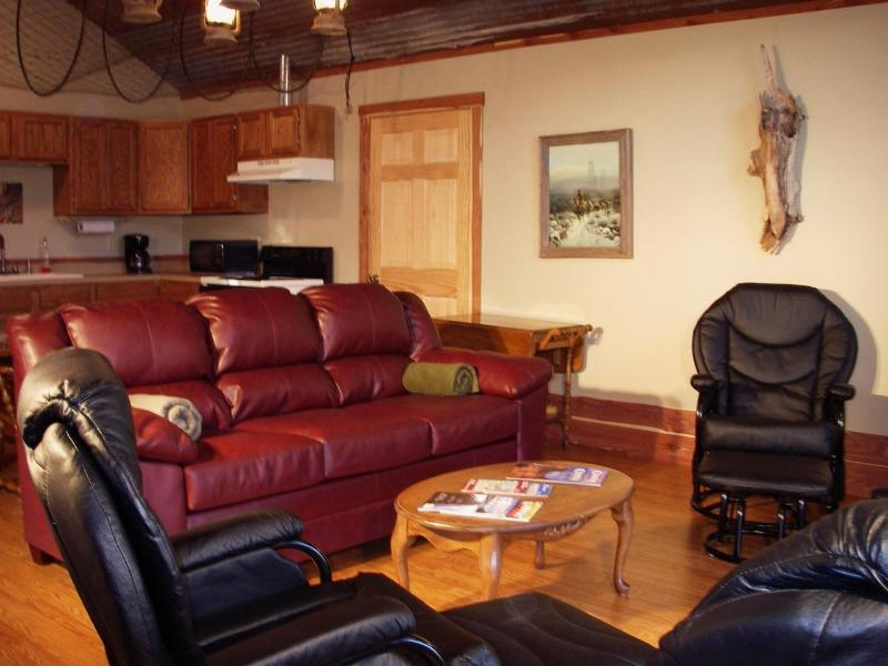 Living area - The Trout's End suite of the Lodge - Norfork - rentals