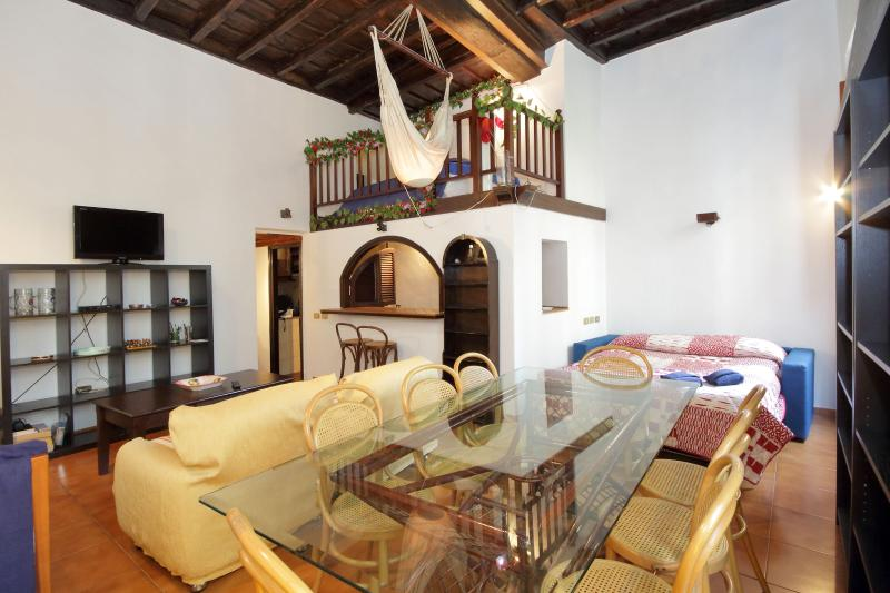 living room, dining corner - Few steps from piazza Navona AIR CON - Rome - rentals