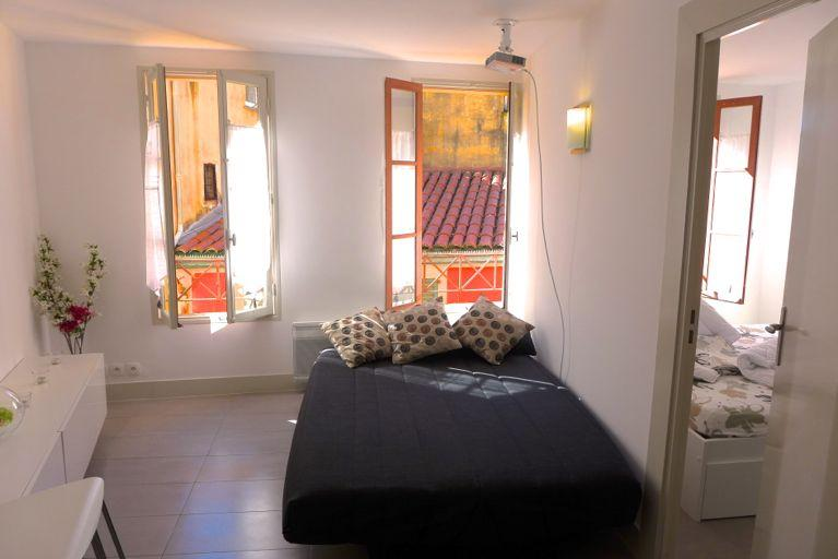 The living room - Old town brand-new flat with big screen! - Nice - rentals