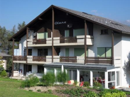 Frontside of Haus Diana in the summer - DIANA, Sunny & Comfortable Apartment In Swiss Alps - Eischoll - rentals