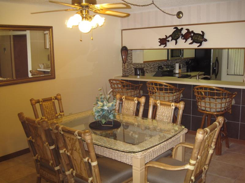 New top of the line dining room table set - Renovated - Ground Floor - On the Beach - Cocoa Beach - rentals