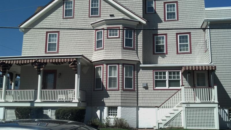 Side of house/private entrance - 2 BR 2BA RENOVATED CONDO - STEPS FROM THE BEACH! - Cape May - rentals